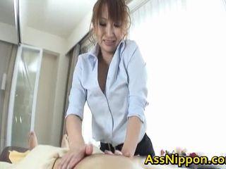Anna mizukawa aziatisch model enjoys cocksucking