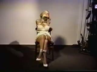 Chaise tied 1: gratuit bondage porno vidéo 96