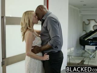 BLACKED Hot Blonde Girl Cadenca Lux Pays Off Boyfriends Debt By Fucking BBC