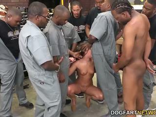 Amirah adara fucks an entire crew на черни guys
