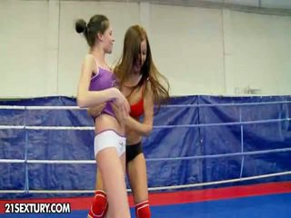 Nudefightclub presents angelica heart vs denisa wings