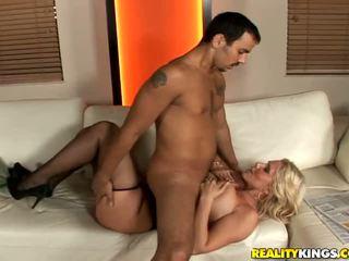 Busty blonde boss fucking her driver