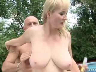 Big Titted Grandma Has Made Love By Her Trainer