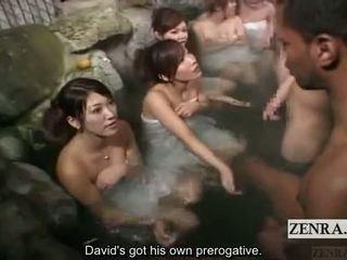 Subtitle oděná žena nahý mužské venkovní japonsko bathhouse masturbation hra