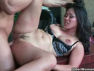 cougar, cum in mouth, blowjob