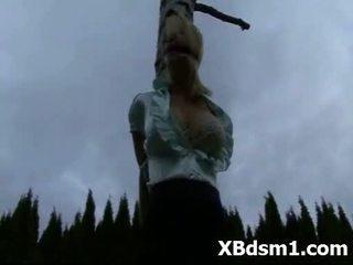 Bizarro jovem gaja bondage sexo makeout