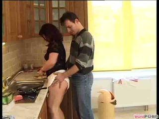 Bruneta med gets a cooking lesson 1/5