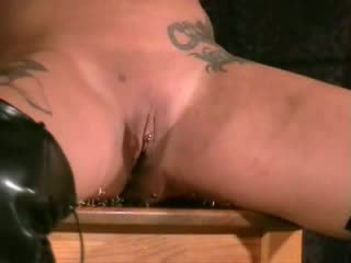 Amateur needle torment and extreme busty bdsm