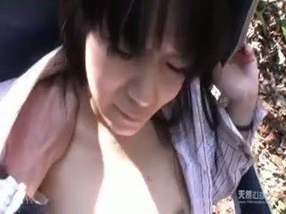 Asian girl fucked hard in the garden