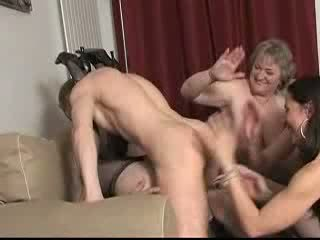 Four Horny Moms Fucking Young Boy Video