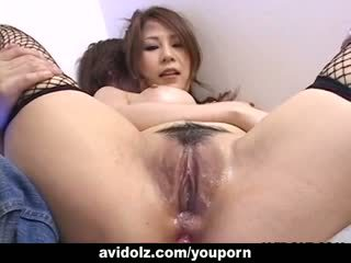 Perfect hottie Yuki Aida gets her ass toyed uncensored