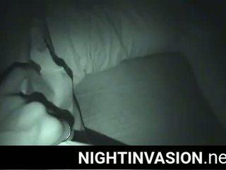 Fantasy w noc podczas ona jest śpiące