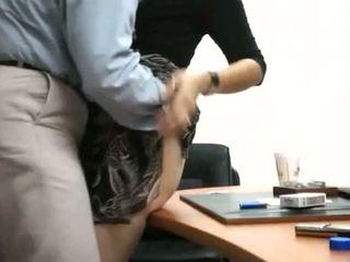 Thư ký được fucked lược trong văn phòng