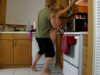 Mom lets son lift her and grind her hot bokong until he cums