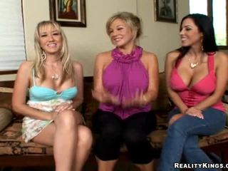 3 Clothed Girls For 1 Naked Man