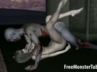 3d multene zombi skaistule getting licked un fucked