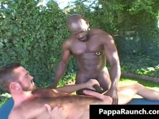Great black gay dude gets his black cock