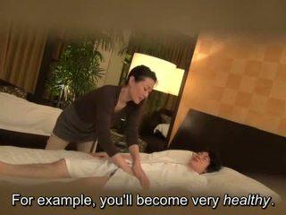 Subtitled Japanese milf massage therapist seduction in HD <span class=duration>- 5 min</span>