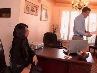 Sexy tajemník banged podle the šéf