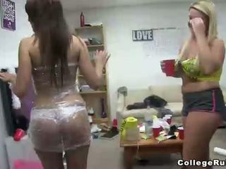 College Students Play Naked Twister In Dorm