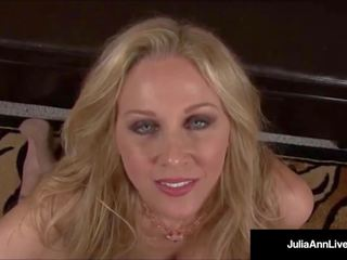 Mega Naughty MILF Julia Ann Talks Dirty & Deep Throats
