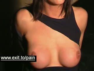 brunete, big boobs, bdsm