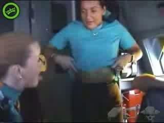 Verklig hostess video- video-