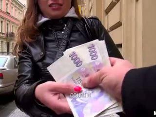 Superb eurobabe Irina analyzed for money