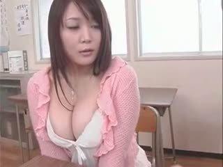 college, japanisch, große brüste