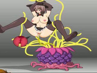tentacles, girl, hentai