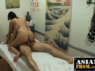 Dick Riding Asian Masseuse