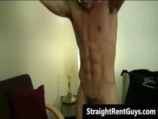 Hunky hetero guys involved in filthy homo