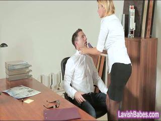 Büro mieze anna polina banged echt gut