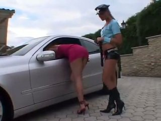 Lesbian cop arrested sexy traffic violator