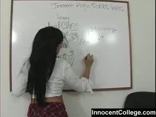Szexi lezbo iskola lányok tanít minden más egy lesson