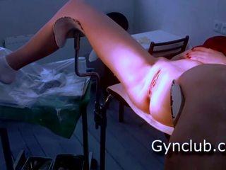 满 gyno 考试 gerl 上 gyno 椅子, 自由 色情 29