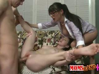 skupinový sex, big cock, trojica