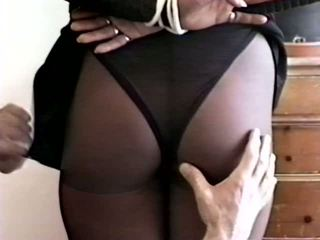 Dark Haired Gal Bound and Spanked by Her Master: Porn c0