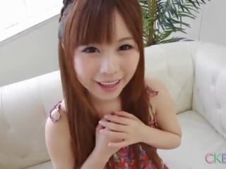 brunette, schattig, japanse