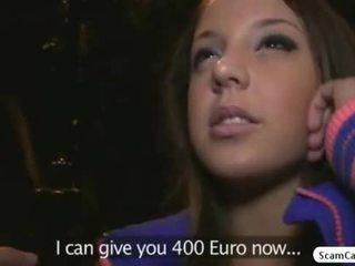 ইউরোপীয় মেয়ে hottie anita gains নগদ টাকা এবং gets হার্ডকোর দ্বারা একটি fake agent