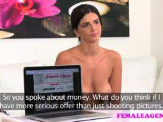 FemaleAgent Busty Make Up Artist Gets Agent Wet