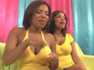 H&sg: sexo a três & negra & negra porno vídeo 10