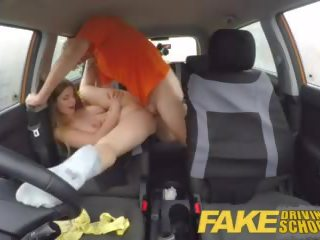 Fake Driving School Full Scene - Hot Blonde Student With Big Natural Tits Fucks for Early Exam