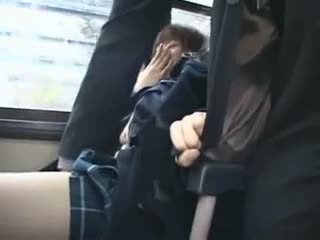 Shocked teengirl หมู่ ใน รถบัส