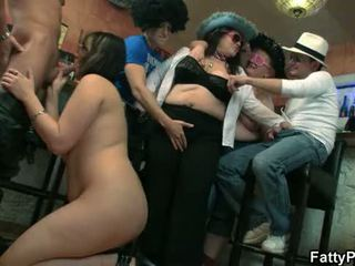 파티 섹스, bbw gangbang, bbw group