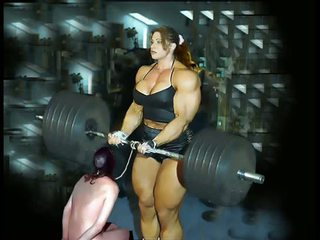 Female membentuk tubuh fbb bodybuilder wanita gemuk cantik dominasi wanita
