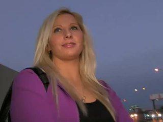 Blonde amateur sabina pounded en public