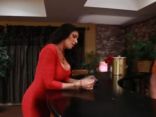 Big Titted Tattooed Romi Rain Takes Pisser From Her Boyfriends Son