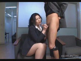 Chinami Sakai japanese secretary gives...