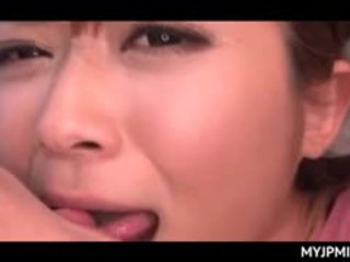 Asian Peachy Pussy Nailed Hard In Sex Video With Busty MILF